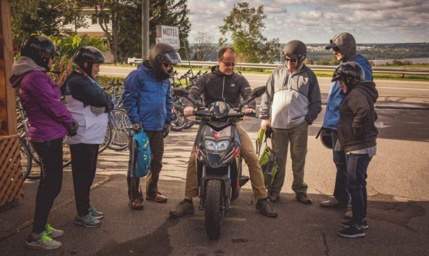 tour guidé en scooter