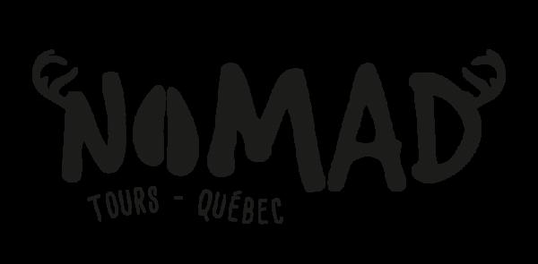 logo nomad tours quebec black
